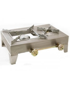 Stainless steel propane cooker one and a half stoves
