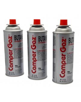 Butane vial for portable fireplace